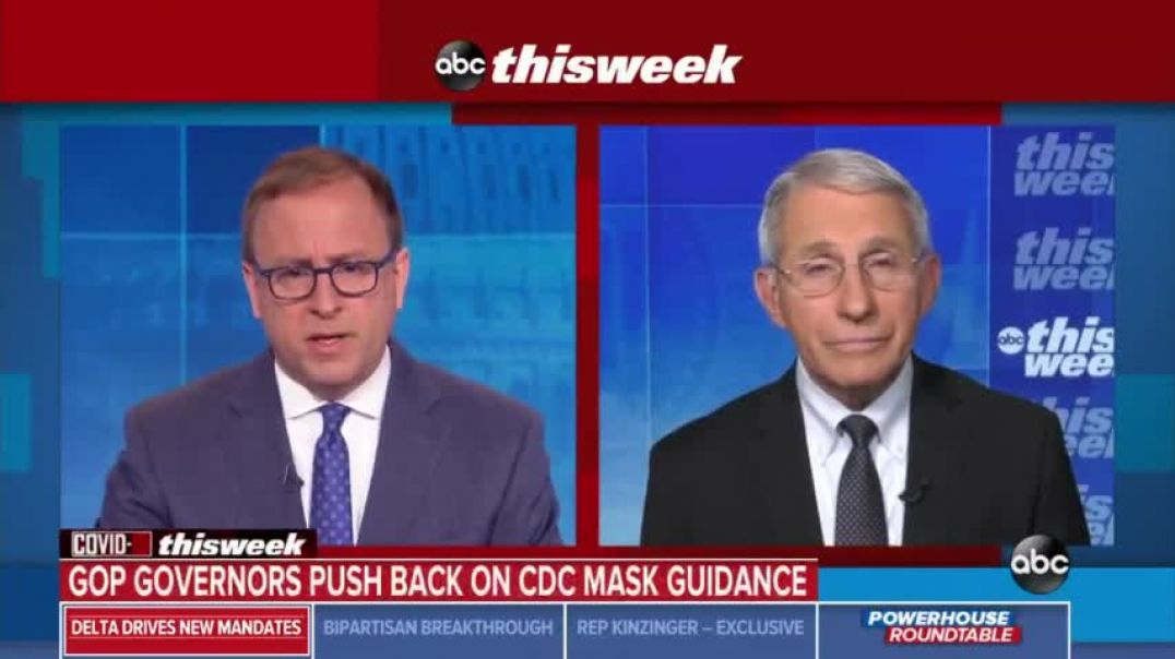 Fauci says DONT ENCROACH the rights of others by NOT WEARING FACE MASKS