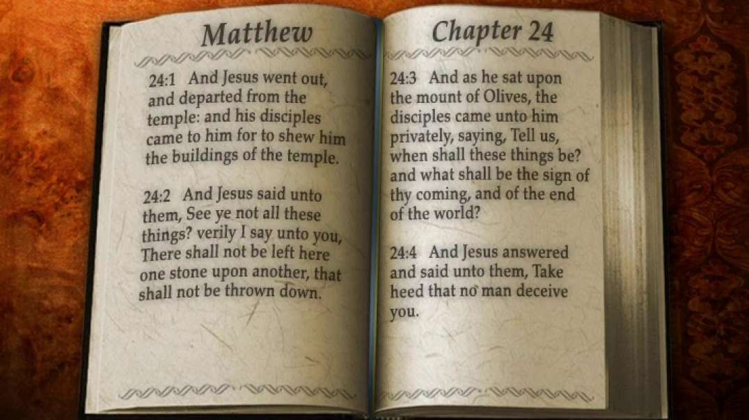 For Then Shall Be Great Tribulation * The Holy Bible * Matthew 24 * KJV * Read By Alexander Scourby