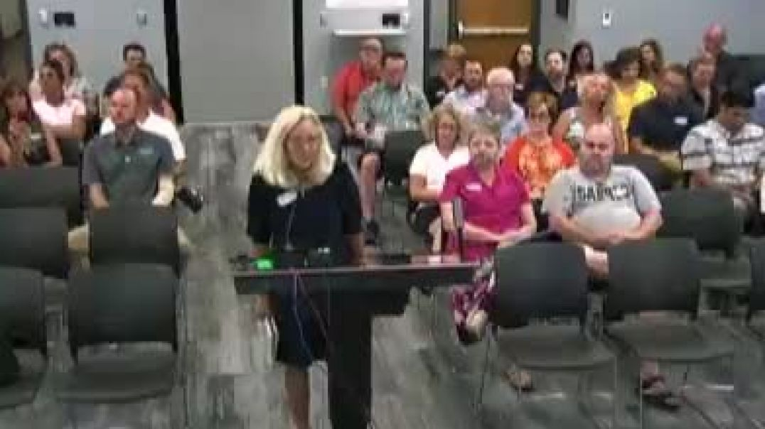 grandmother gets her microphone cut at school board meeting