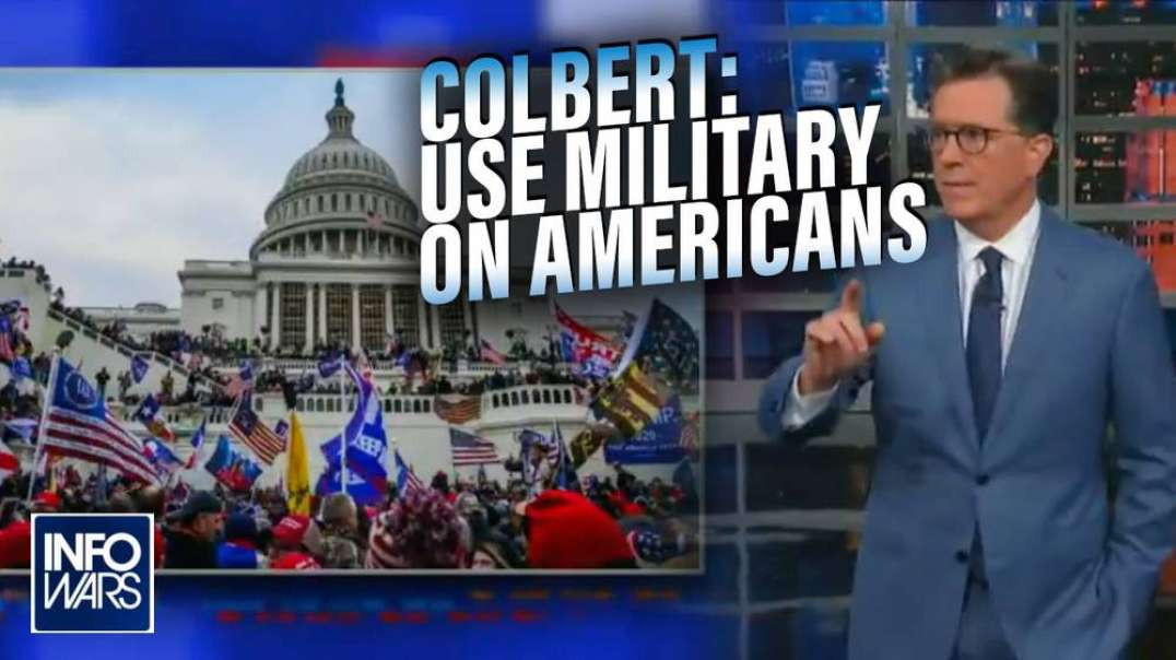 Globalist Shill Steven Colbert Calls for Returning Troops from Afghanistan Be Used Against Americans