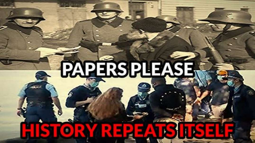 The Army Was Brought In For Covid Mandates In Australia Nazi Germany Era V@cc1n3 Pass To Do Anything