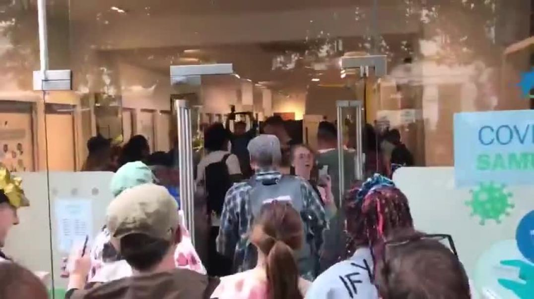 COVID KILL SHOT CENTER INVADED BY PROTESTERS...SHUT IT DOWN