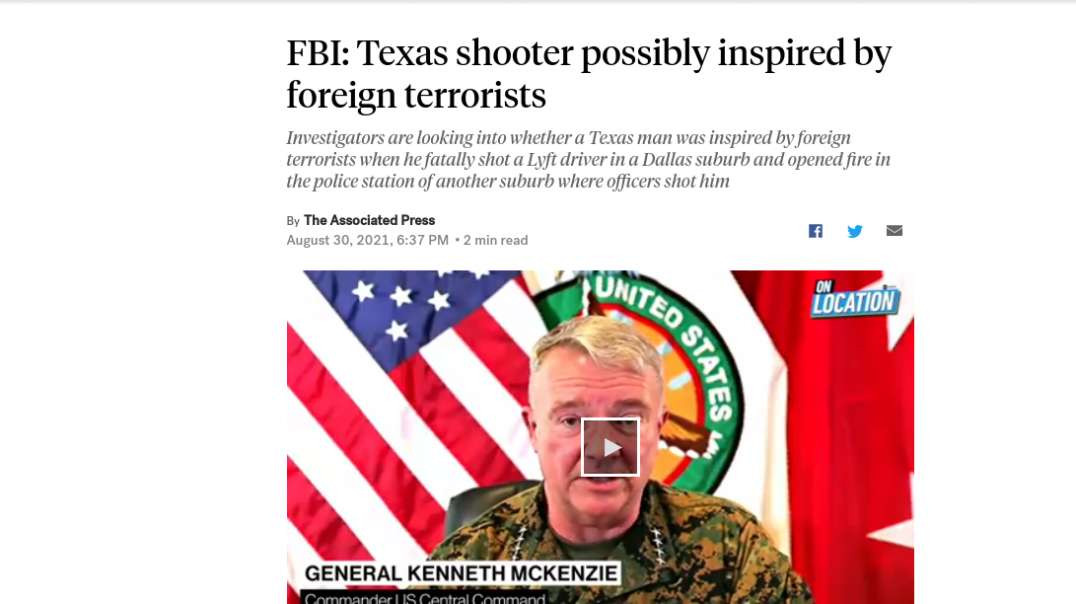 """FBI Claims TX Shooter """"Possibly Inspired By Foreign Terrorists"""", Kabul False Flag"""