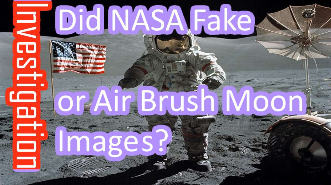 NO! NASA didnt airbrush - Lunacognita did NOT use original images as I Proved in 2017