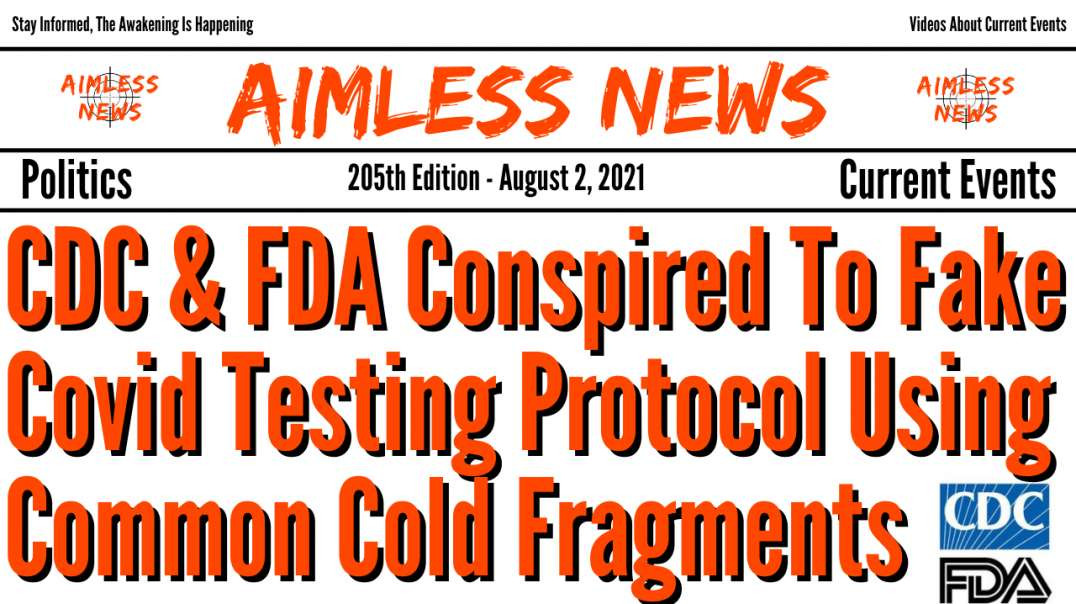 CDC & FDA Conspired To Fake Covid Testing Protocol Using Common Cold Fragments, Tests Are Useles
