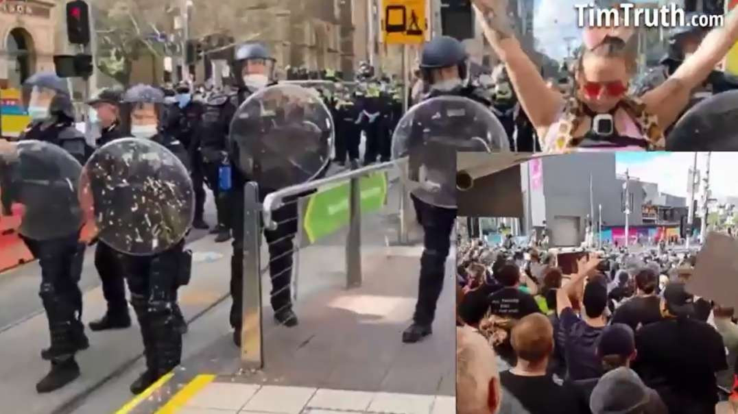 PT4 Aug 21st Melbourne Australia Rally Peace Freedom Human Rights Victoria Lockdowns Vaccines