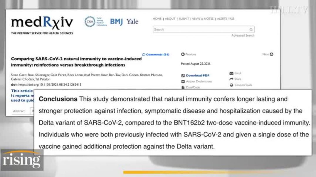 MUST WATCH - KIM IVERSEN: BOMBSHELL REPORT SUGGESTS NATURAL IMMUNITY TRIGGERS BETTER RESPONSE AGAINS