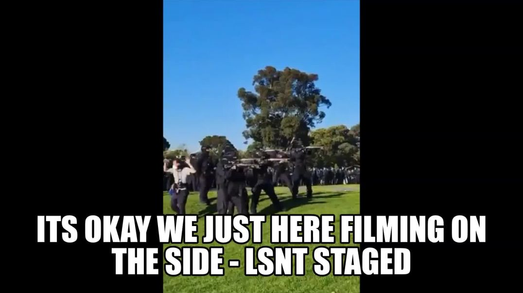 Police Firing At Protesters! But Film crew can film on side? ANSWER THE RIDDLE?