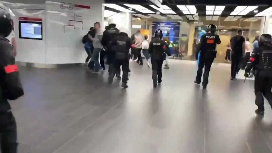 Lady gets a beating for shopping without a vaccine Passport in Paris