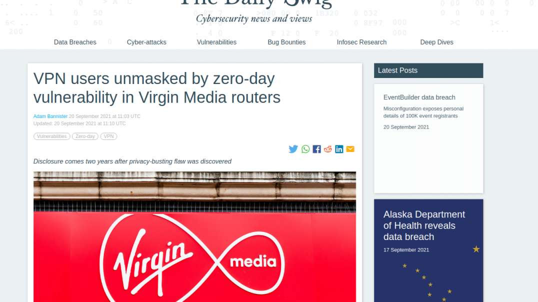 Virgin Media Router Unmasking VPN Users, DHS Teams With Coinbase