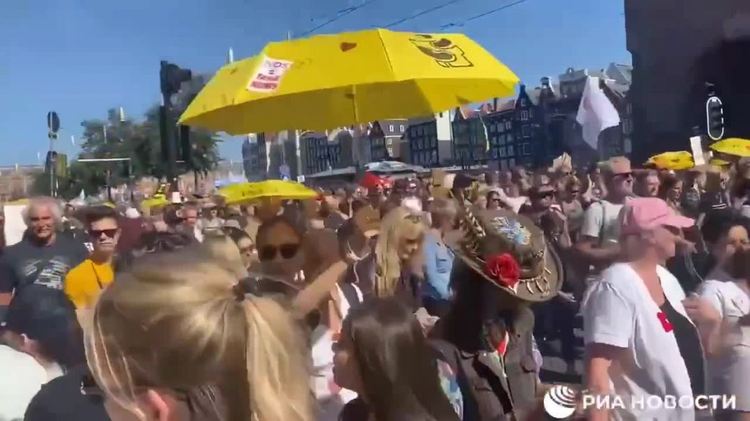 More protest footage from Amsterdam