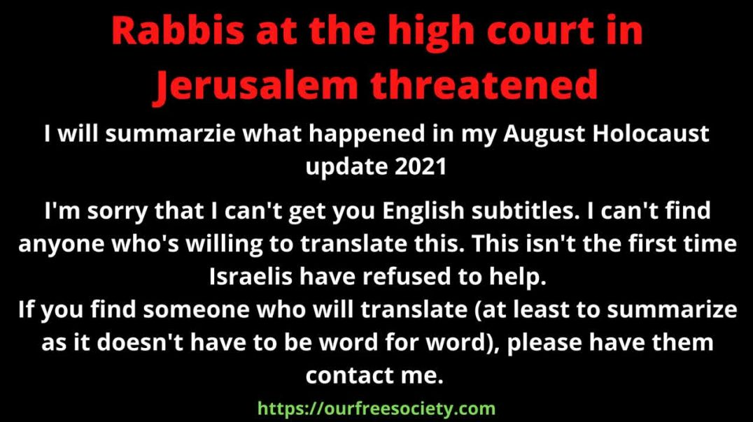 Rabbis at the high court in Jerusalem threatened
