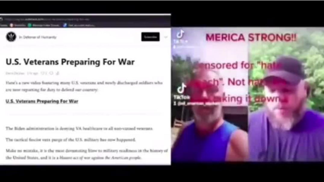 UNITED STATES VETERANS ARE PREPARING FOR WAR - GET READY