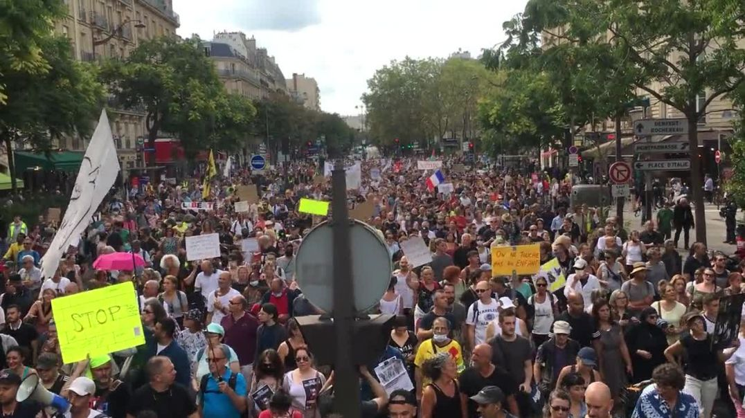 For the 8th week in a row, enormous protests right across France against the vax passports/mandates.