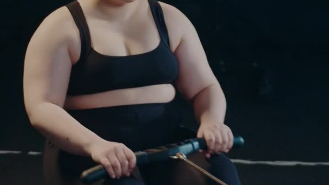A Woman Trying to Lose Weight Through Exercise