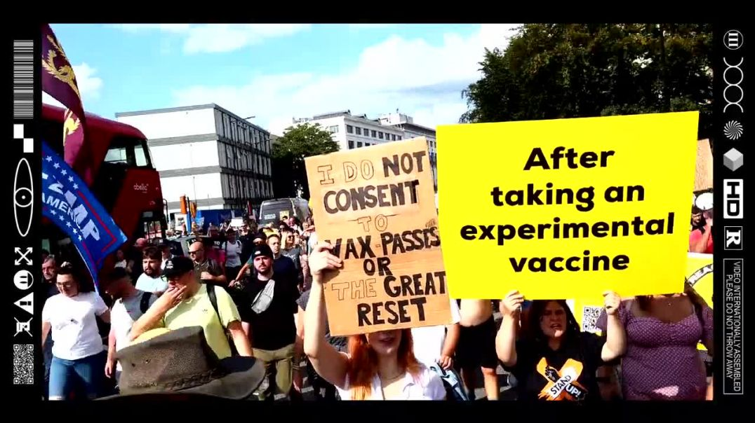 (EMB) WORD ON THE CURB - SAVE OUR CHILDREN - WORLDWIDE FREEDOM RALLY - LONDON (18/09/21)