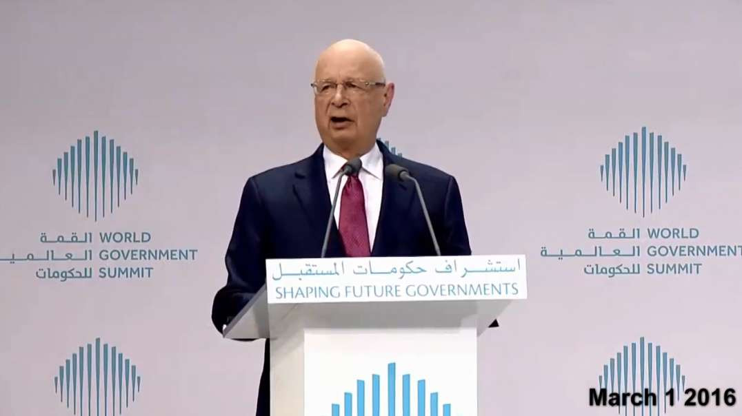 Klaus Schwab March 1st 2016 WGS Fusion of 3 Things The Dawn of the Fourth Industrial Revolution