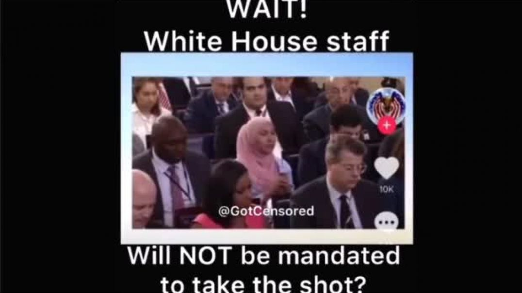 WHITE HOUSE STAFF WILL NOT BE MANDATED TO TAKE THE DEATH VAXX