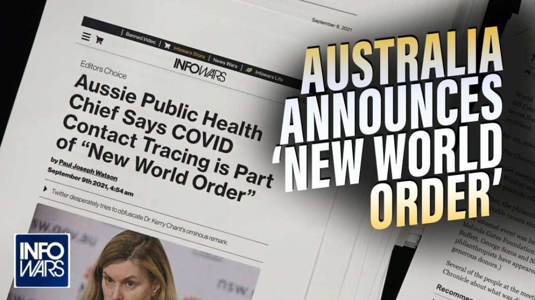 Australia Officially Announces a 'New World Order' Shocking the Planet