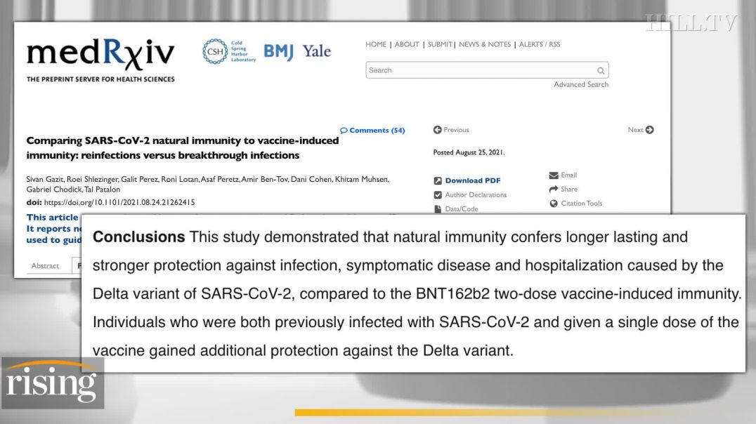 Kim Iversen: BOMBSHELL Report Suggests Natural Immunity Triggers Better Response Against COVID