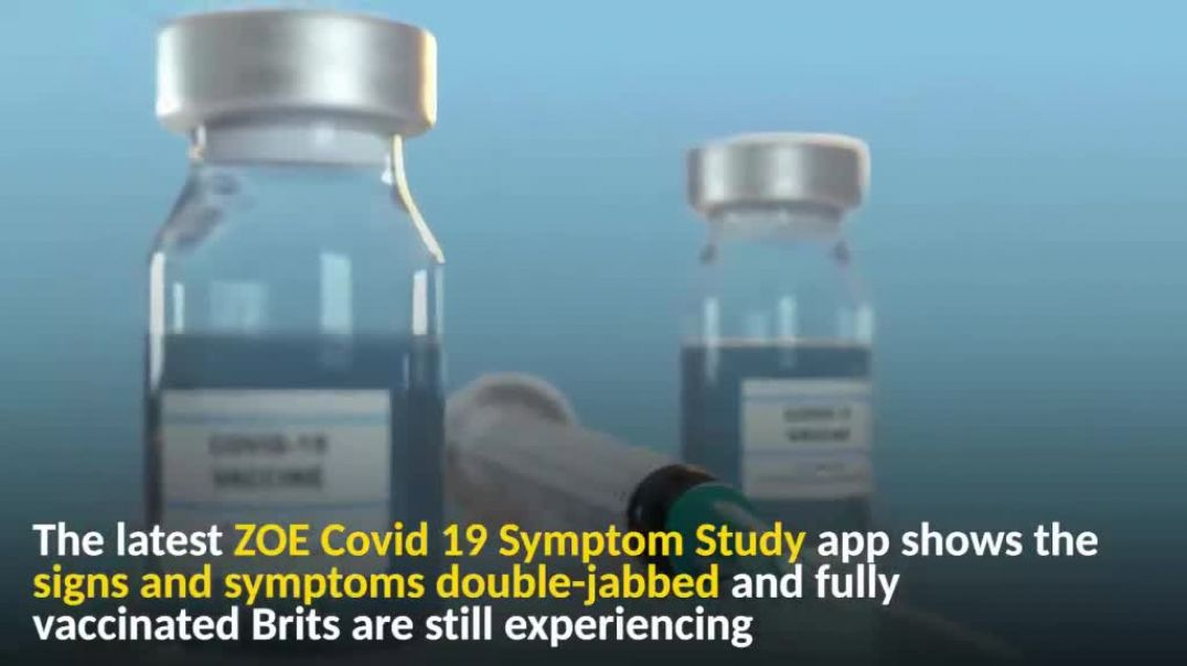Double jabbed SHEEPLE have to worry about 21 covid symptoms - FACE IT - vaccines only cause disease