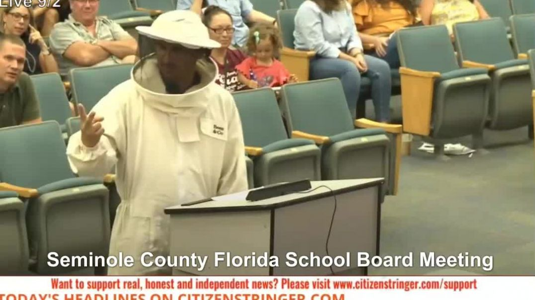 Sept 2nd Seminole County Florida Mask Mandates School Board Meeting Bee Suit Covid-19 Restrictions