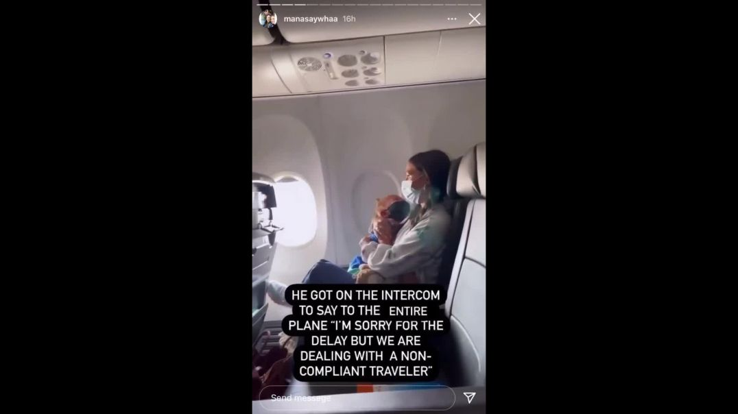 Asthmatic two year old refused to wear a mask...The plane was turned around