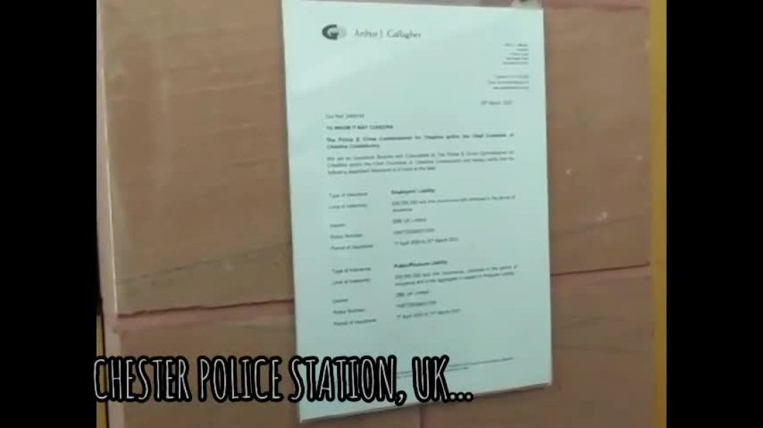 UK: CHESTER POLICE STATION & SCHOOL  ~ LIABILITY PAPERS SERVED!