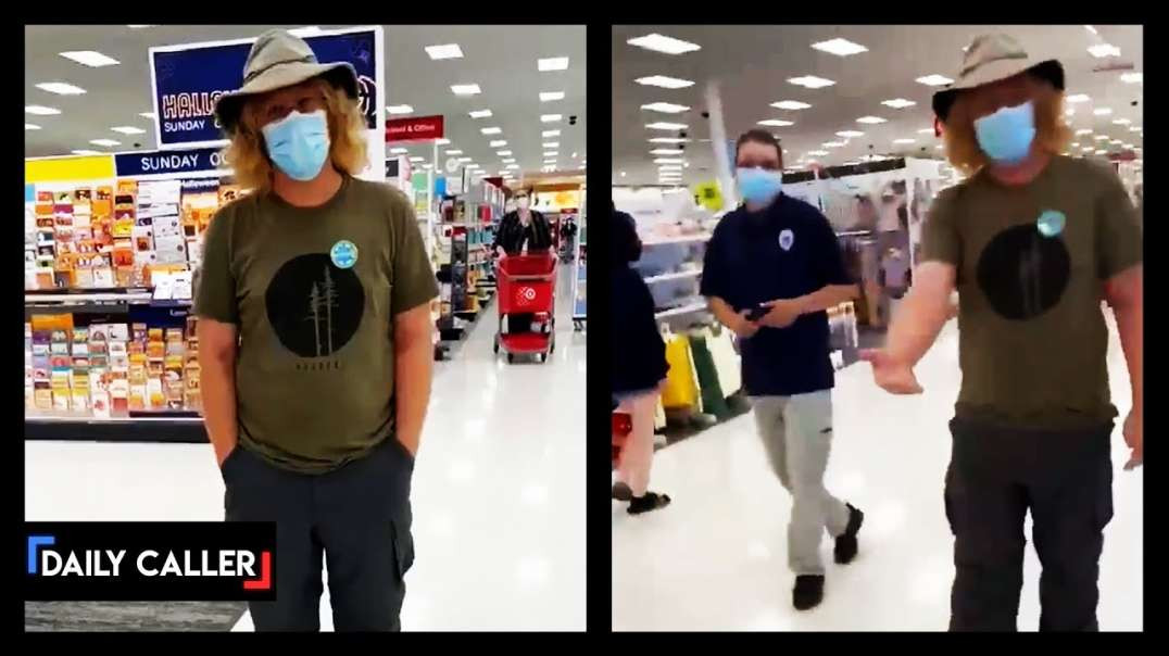 Man Follows Maskless Woman In Store and Calls her a BAD American - NWO Programming COMPLETE!
