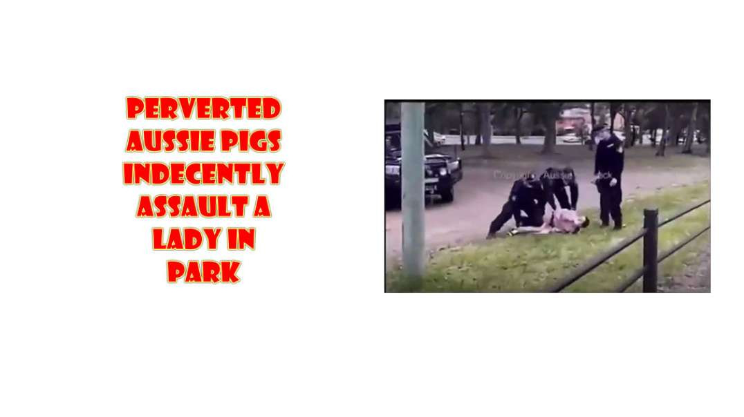 Perverted Aussie PIGS assault woman in park and expose her PRIVATE PARTS