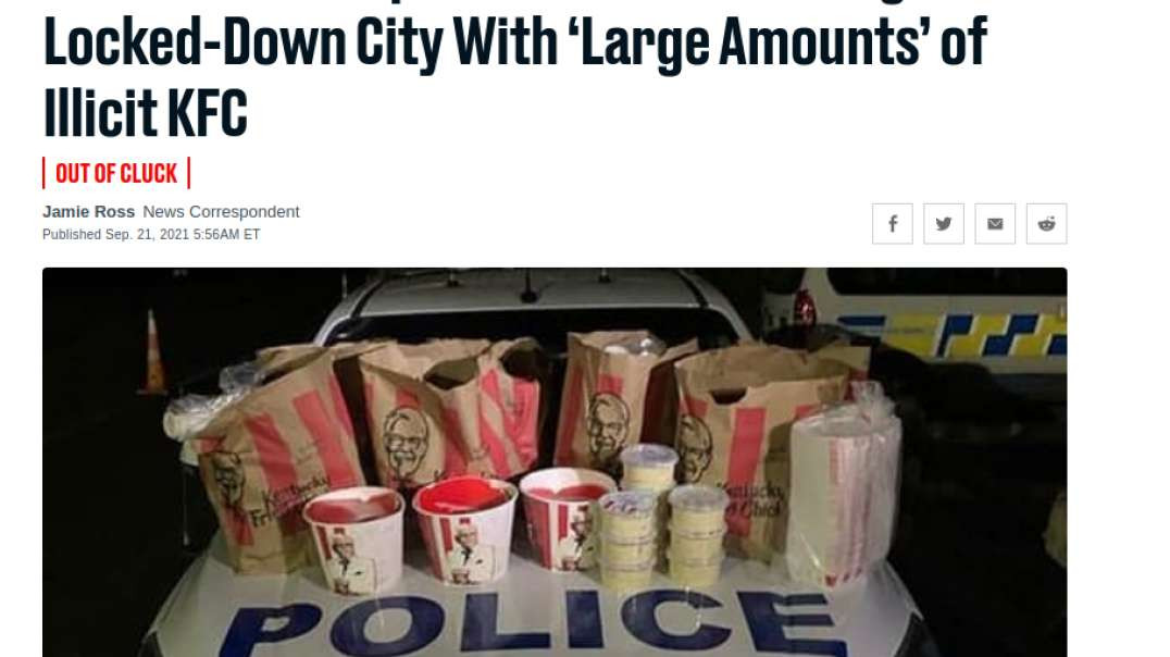 New Zealand Police Arrest Scumbags With Illegal Kentucky Fried Chicken