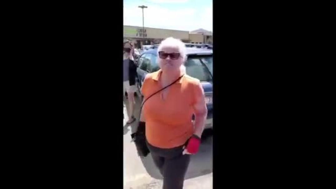 Unmasked woman coughs on shoppers