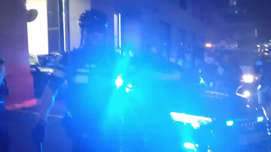 denhage netherlands president fleeing protesters hit with bettons