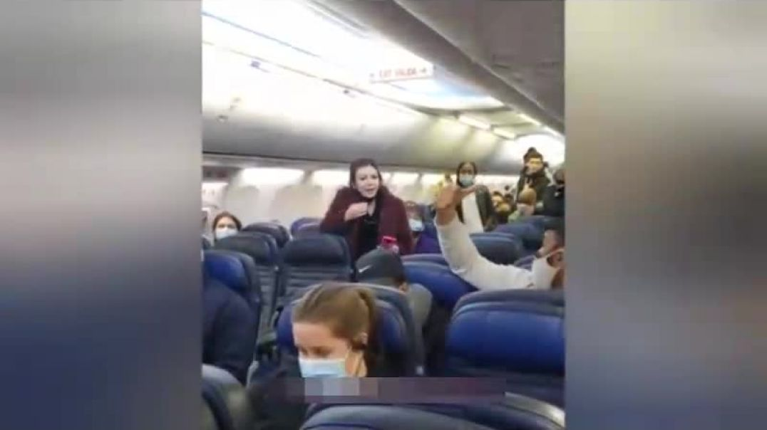 She pulled down her face mask to argue and got thrown OFF THE PLANE