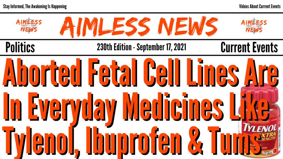 Aborted Fetal Cell Lines Are In Everyday Medicines Like Tylenol, Ibuprofen & Tums