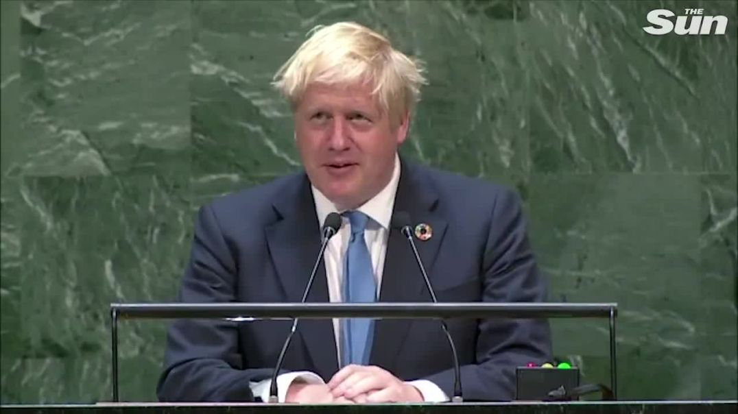 Boris Johnson's speech at The United Nations. Total control n surveillance . NO WHERE TO HIDE