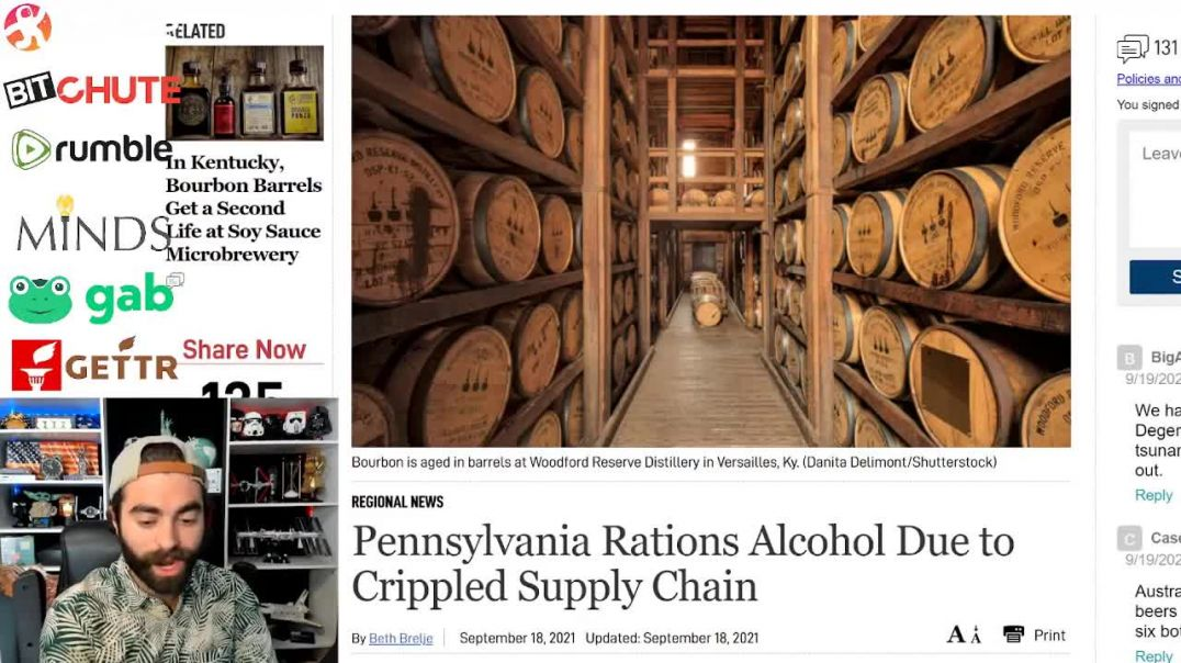 BOOZE BLUES - PA Rations Alcohol Due To Crippled Supply Chain