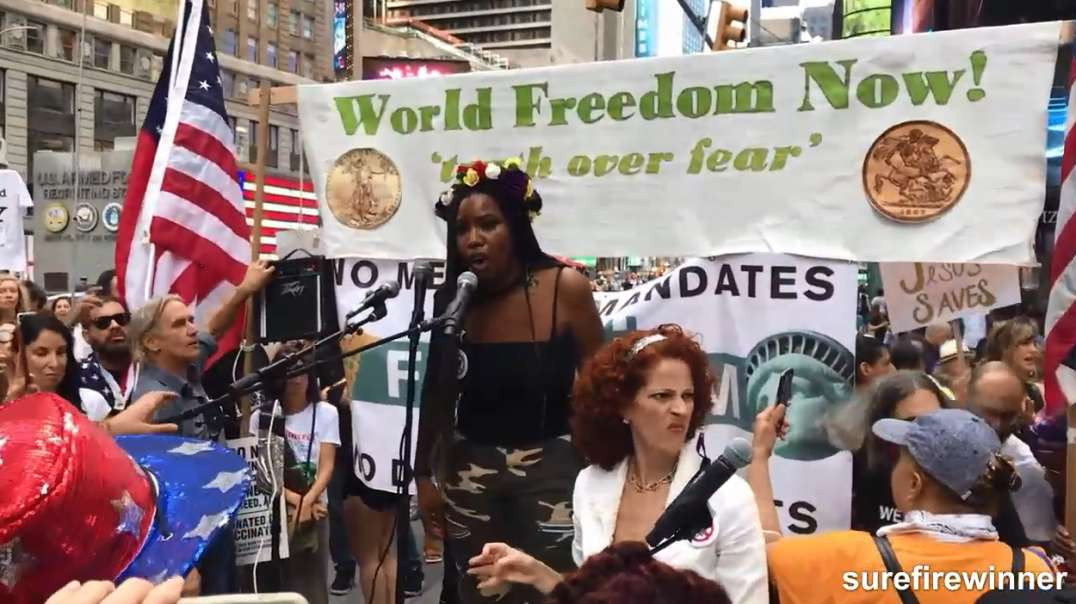 Sept 18 2021 NYC Times Square Freedom WWD Rally Demonstration March Protest Covid19 Vaccine Passport