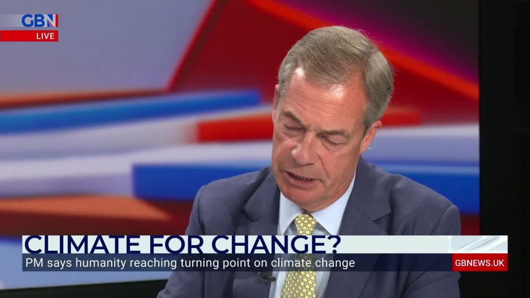 Nigel Farage clashes with Bob Ward over climate change