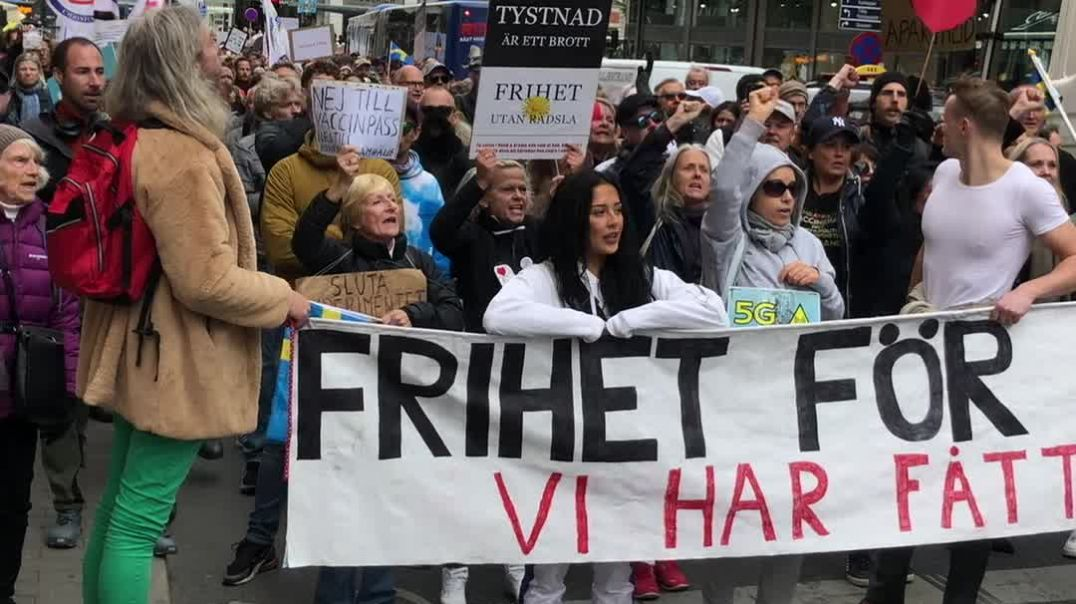 Rally For Freedom - Stockholm - Sept 18th '21