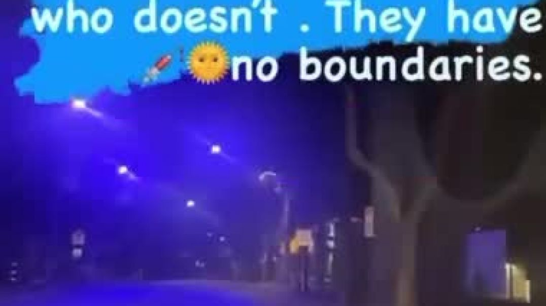 THEY CHANGED SOME STREET LIGHTS TO BLACK LIGHTS