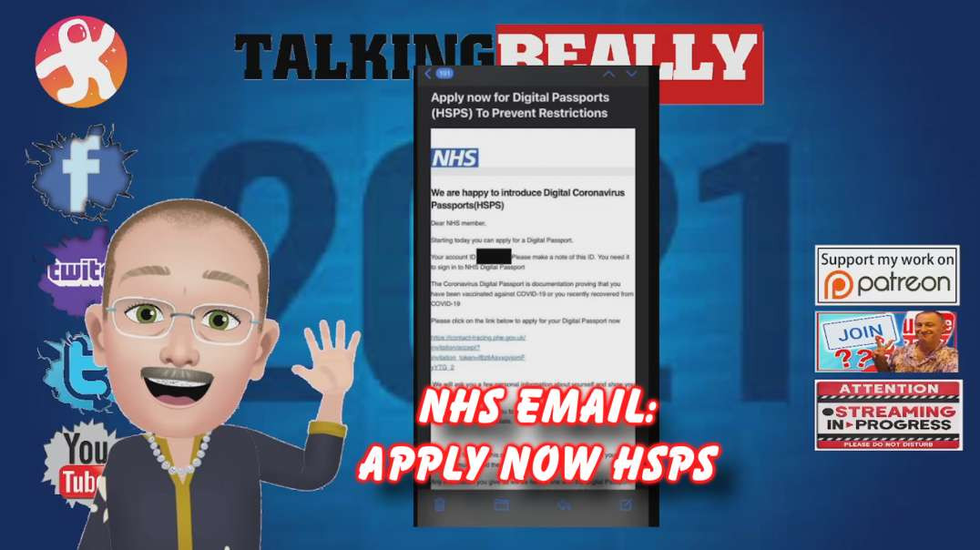 NHS email about cv pass