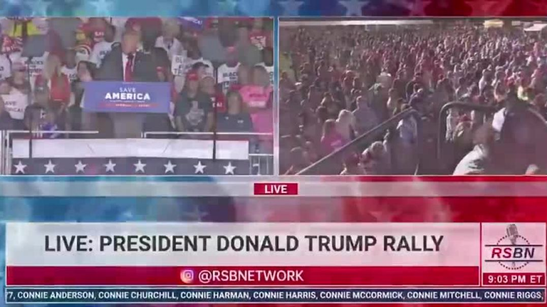 Inspirational Words From President Trump At Georgia Rally
