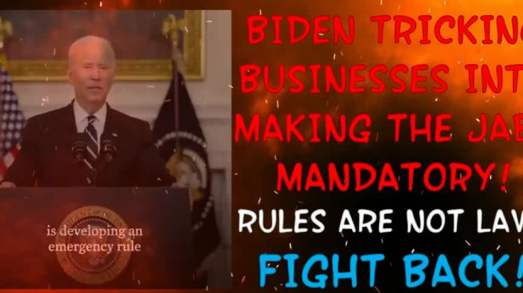 Biden Deceiving The Public!!! Rules Are Not Laws!!! #AMERICANPUBLIC #SHEEP #WEDONOTCONSENT #NBA #NFL