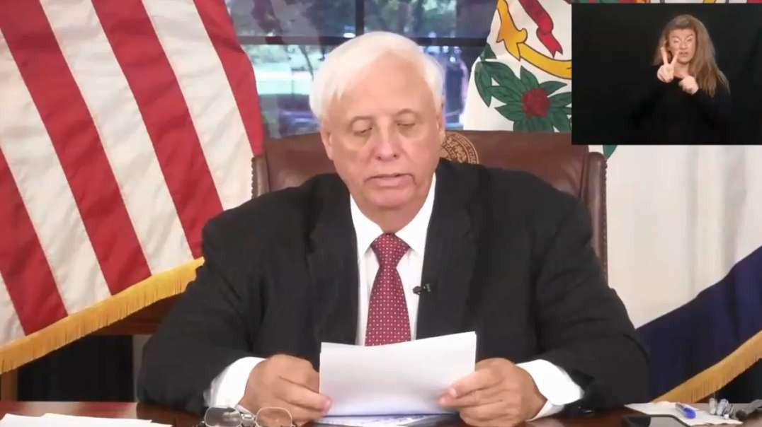 Aug 23rd West Virginia Gov Jim Justice PressBriefing Admits Spike In Vaccine Covid-19 Cases &amp