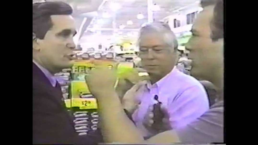 Rare Footage of Alex Jones Confronting Congressman Lloyd Dogget, NWO Interview with Tony Brown 1990s