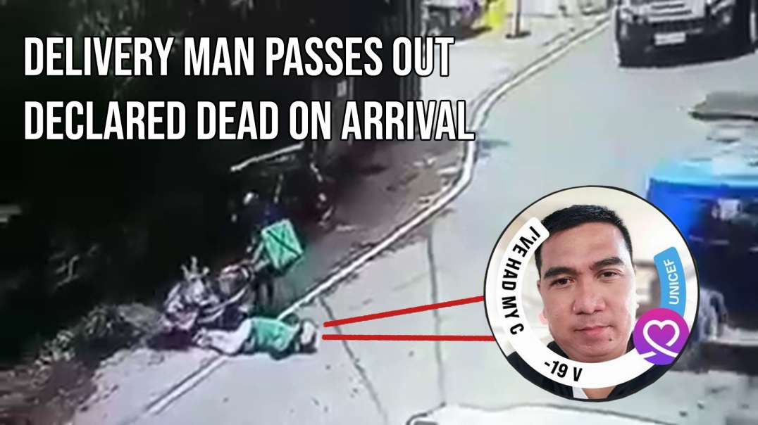 Food Delivery Driver Falls Dead - MSM Claims - 'Anything but the waxxine!' - Philippines