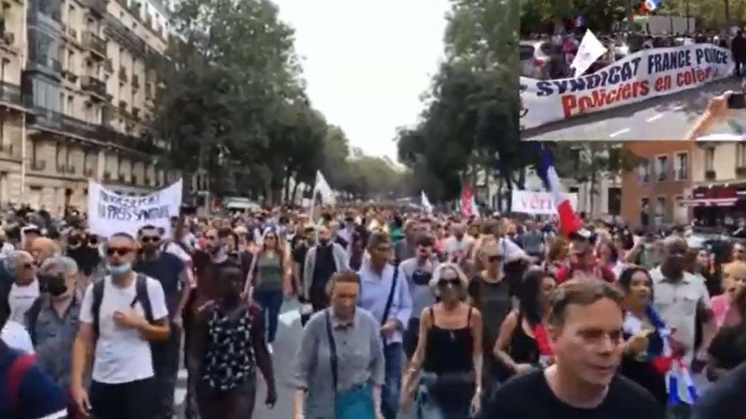 Sept 4th France Nationwide Protests Anti Covid-19 Vaccine Passport Sanitaire #ParisProtest Tim Truth