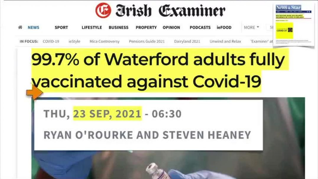 COVID CASES ARE HIGHEST IN TOWN WHERE 99.7% ARE VACCINATED ffs ding dong