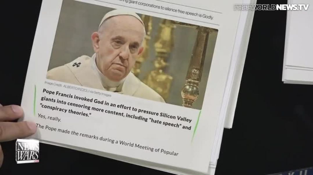 Pope Demands Silicon Valley 'In the Name of God' Censor 'Hate Speech,' 'Con